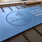 nyomtatott cégtábla 3D felirattal